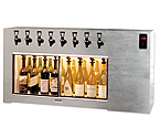 WineKeeper Magnum 8 Bottle Wine Dispenser Preservation Unit - Brushed Stainless Steel #4 Finish - 8006