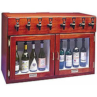 Sonoma 8 Bottle Wine Dispenser Preservation Unit - Mahogany