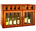 WineKeeper Sonoma 6 Bottle Wine Dispenser Preservation Unit - Mahogany - 8027