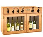 WineKeeper Sonoma 6 Bottle Wine Dispenser Preservation Unit - Oak - 8028