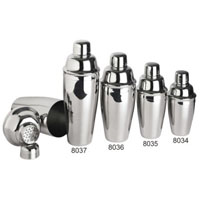 Stainless Steel Cocktail Shaker Set - 8 oz.