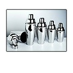 Lustrum 8034 Stainless Steel Cocktail Shaker Set - 8 oz.