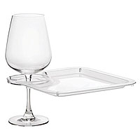 Party Plate with Built-In Stemware Holder (Set of 4)