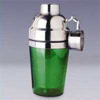 Double Wall 8140G Cocktail Shakers - 10 oz - Green