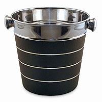Silver & Black Ice Bucket - Bulk
