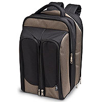 Wine Picnic Backpack for Two - Tweed