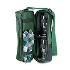 Dark Green Wine Traveler Carrier