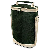 Hunter Green Double Bottle Wine Duffel