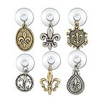 Fleur De Lis Suction Cup My Glass� Wine Charms