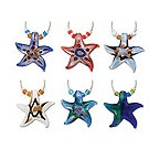 Starfish My Glass� Wine Charms