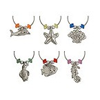 Silver-Plated Sea Life My Glass Wine Charms