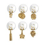 Gold Wine Cellar Suction Cup My Glass� Wine Charms