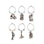 Nineteenth Hole My Glass� Wine Charms
