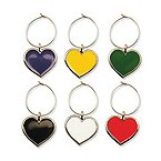Color My Heart My Glass� Wine Charms