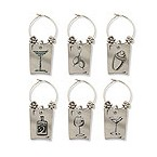 Wine & Spirits My Glass� Wine Charms