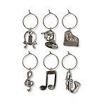 Musical My Glass Wine Charms