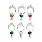 Colored Wine Glass My Glass Wine Charms
