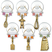 Cooking Party Suction Cup My Glass® Wine Charms