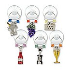 Silver Plated Wine Party Suction Cup My Glass� Wine Charms