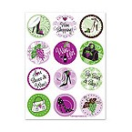 Wine Boutique Glass Stick'ems Wine Tags