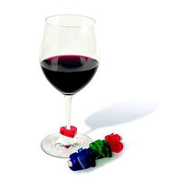 Wine Glass ID Tags Playing Card Symbols