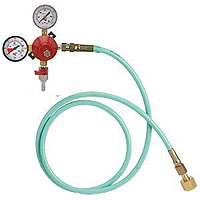 Wall Mount Double Gauge Co2 Regulator w/6' High Pressure Hose