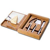Soiree Bamboo Cutting Board & Cheese Set