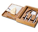 Picnic Time Soiree Bamboo Cutting Board & Cheese Set
