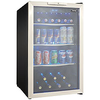 Scratch & Dent - Danby DBC039A1BDB Beverage Center (124 cans) - Black/Stainless Steel