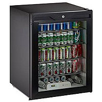 Scratch & Dent Return - U-Line ADA24RGLB-13 5.3 cf ADA Undercounter Refrigerator w/ Lock  - Black Cabinet with Black Glass Door
