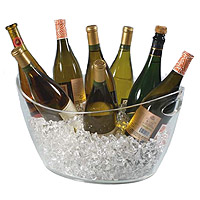 Colossus 8-Bottle Clear Acrylic Oval Bucket