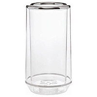 Freddo Thermal Wine Cooler - Clear w/ Chrome Trim