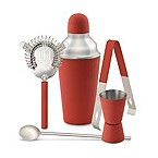 Red Happy Hour Barware Set