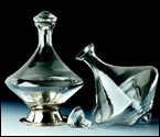 Orbital Wine Decanter with Silver Plated Base & Crystal Stopper