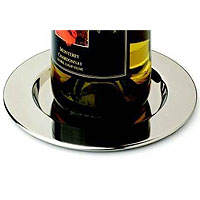 Stainless Steel Pratique Wine Bottle Coasters