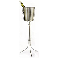Ideal 3 Legged Wine Stand with Wine Chiller Bucket
