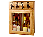 WineKeeper Sonoma 4 Bottle Wine Dispenser Preservation Unit - Oak - 9307