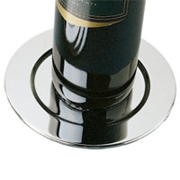 Platinum Wine Bottle Coasters (Set of 4)