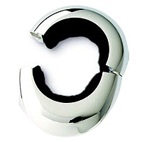 Silver Plated Two-Piece Magnetic Wine Collar