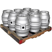 Pallet of 9 Brand New 10.8 Gallon Firkin Cask Beer Kegs