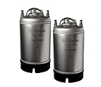 Kegco Home Brew Beer Kegs - Ball Lock 3 Gallon Strap Handle - Set of 2