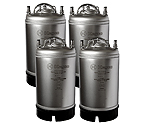 Kegco Kombucha Kegs - Ball Lock 3 Gallon Strap Handle - Brand New - Set of 4