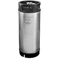 5 Gallon Commercial Keg with Rubber Top and D System Sankey Valve