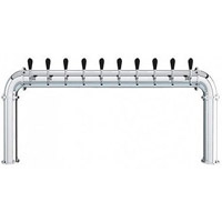 Stainless Steel 10 Faucet - 3.3 Inch Column - Glycol Cooled
