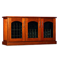 Contemporary Credenza - 115 -Bottle Wine Cellar - Provincial Finish