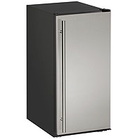 Crescent Ice Maker Model - Black Cabinet with Stainless Steel Door