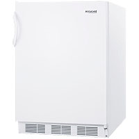 Summit AL650 ADA Refrigerator Freezer - White Cabinet / White Solid Door