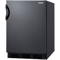 Summit AL652B - Black Cabinet / Black Solid Door