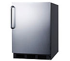 Summit AL652BSSTB - Black Cabinet / Stainless Steel Door & Handle