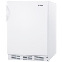 Summit AL750 5.5 Cu. Ft. ADA All Refrigerator - White Cabinet & Solid Door